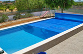 Olhão, 2009 - Heated swimming pool with manual plastic cover