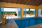 Estoi, 2004 - Indoor swimming pool, heating system, cover, jet stream swimming system, hydro massage and terrace view