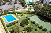 Hotel Olympus - Vilamoura, 1989 - Main Swimming Pool and Tennis Court