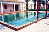 Vale do Lobo, 2000 - Swimming pool with peripheral border made of typical regional stone