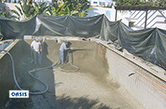 Albufeira, 2008 - Rehabilitation of swimming pool using sprayed concrete - gunite (10 years of structural warranty)