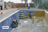 Albufeira, 2008 - Rehabilitation of swimming pool, access steps, jet stream and hydro massage system