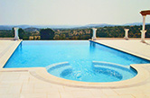 "Loulé, 2003 - Private swimming pool with hydro massage and ""infinity edge"" style"