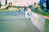 Vilamoura, Aldeia do Mar, 1993 - Completion stage ot the tennis court surface