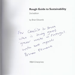 Rough Guide to Sustainability - dedicatória