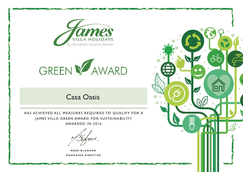 Casa Oasis - James Villa Green Award
